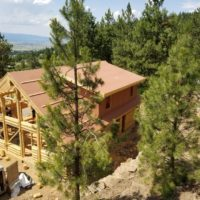Arial shot of Deer Creek home with scenic view