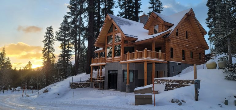 popular log home design