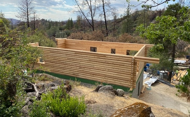 Oroville California log home design